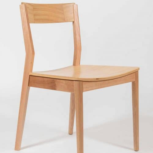 Heather Timber Dining Chair custom made and designed by joinery Buywood Furniture, Brisbane
