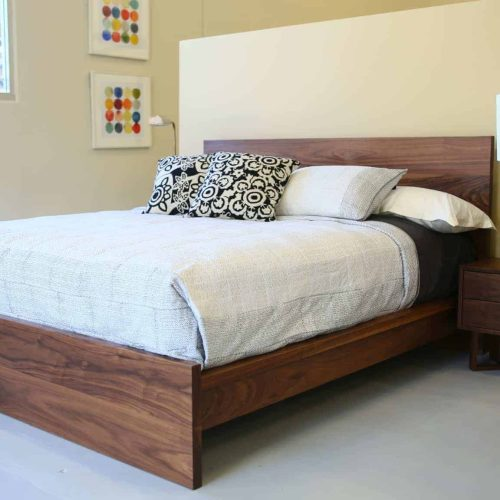 Zen King Bed Walnut 4