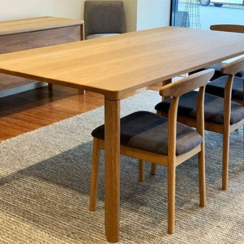 Jensen Dining Table custom made joinery by Buywood Furniture, Joinery located at Alderley in Brisbane
