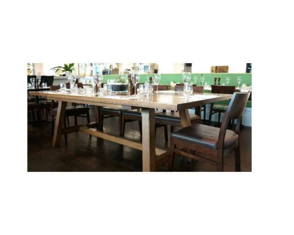 Nantucket Dining Table in solid wood custom made by Buywood Furniture, Brisbane in your choice of timber using Recycled, Rosewood, American Oak, Blackbutt and Walnut timbers.