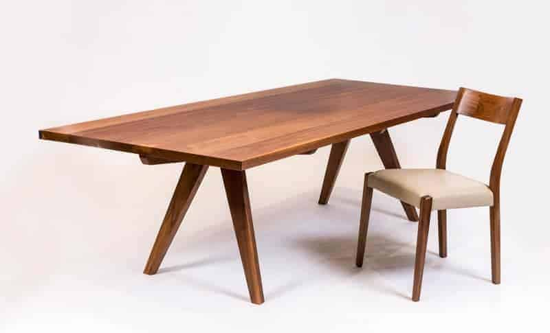 Lachlan Dining Table with Newport Dining Chair custom made by Buywood Furniture Brisbane