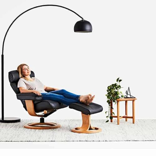Nordic NC99 Prime Black IMG Recliner now available at Buywood Furniture, Alderley, Brisbane