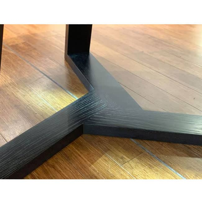 Buywood Furniture created this stunning Burke table for a client in Black Stain.