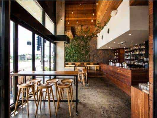 We made these great Bar Tables for Hatch & Co in Newstead, Brisbane. They look right at home in this awesome fit out, good work guys! We do hospitality furniture, high quality finish & built to last.