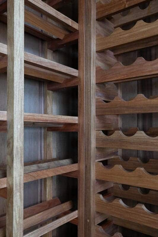 Wine Cellar custom made in Rosewood by Buywood Furniture