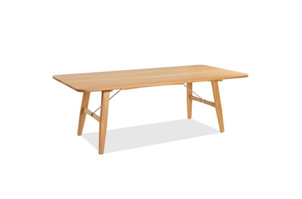 Cooper Dining Table is an impressive yet classic designed wooden table made by Buywood Furniture, Brisbane.
